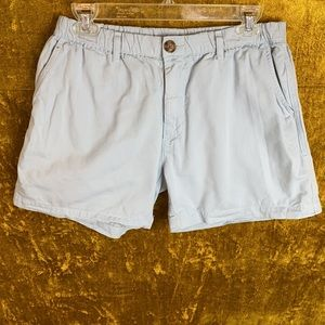 Chubbies USA Light Blue Cotton Shorts Size Medium